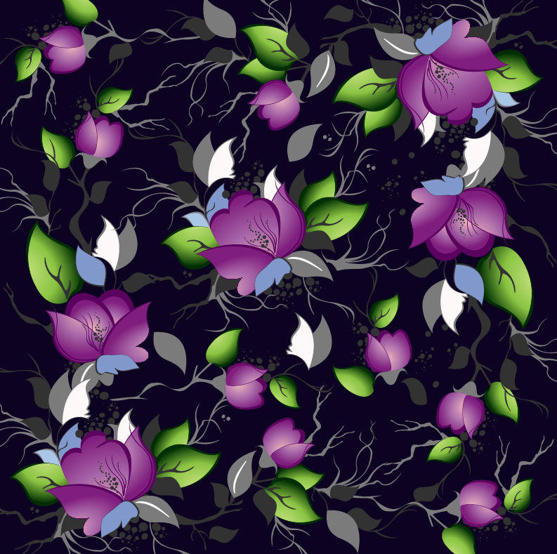 Elegance Purple Floral Pattern Background