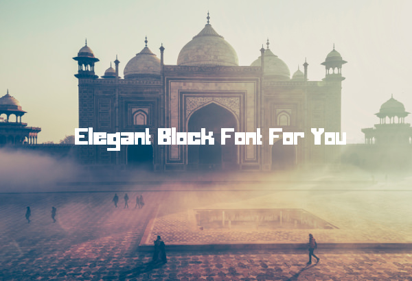 Elegant Block Font For You
