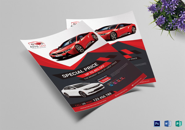 elegant car sales flyer template