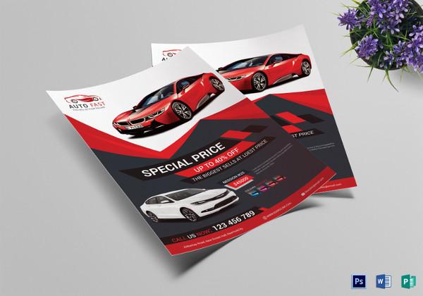 Elegant Car Sales Flyer Template