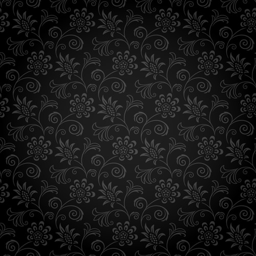 Elegant Free Ornate Dark Floral Pattern