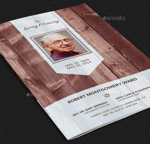 Elegant Funeral Card Design