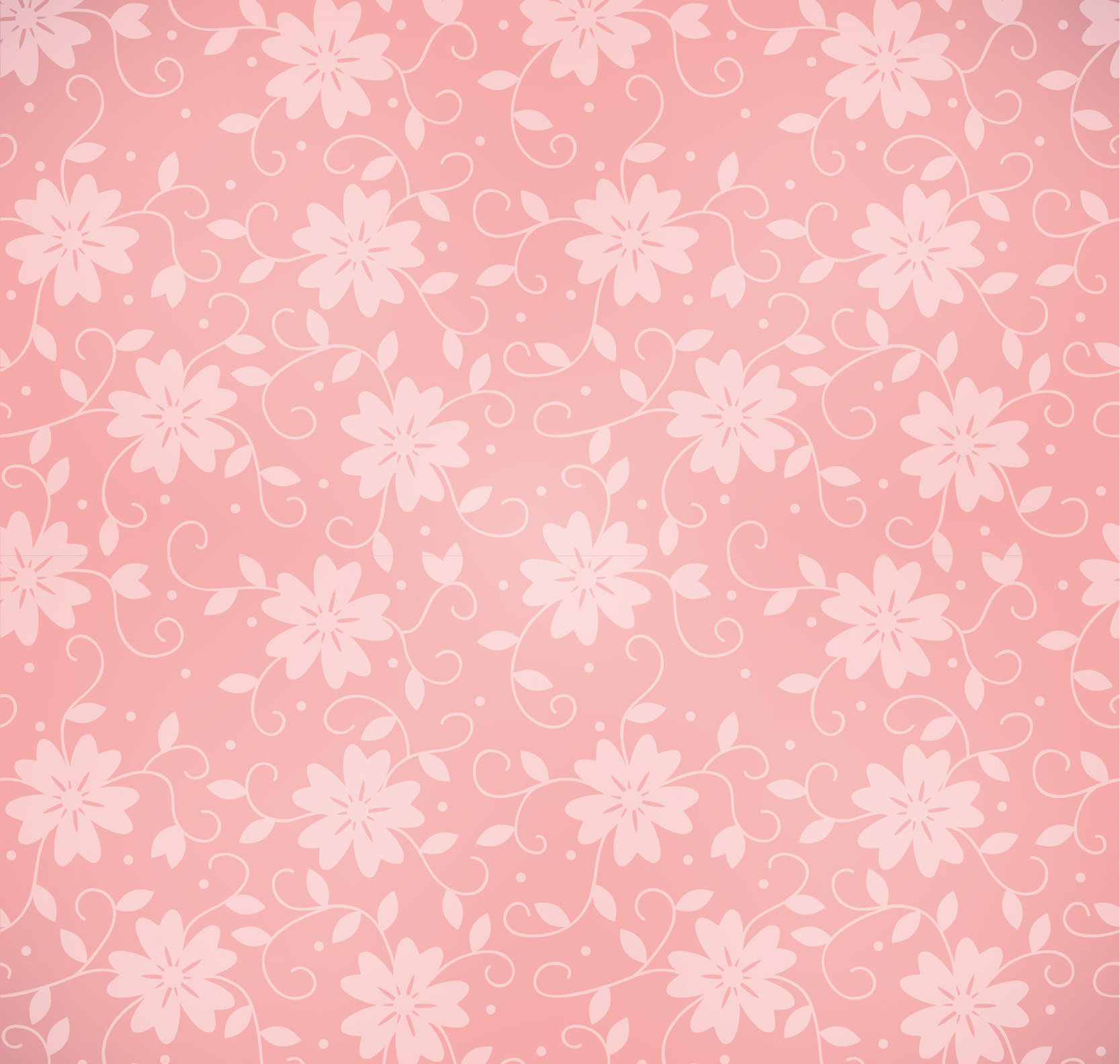 Elegant High Res Pink Floral Pattern