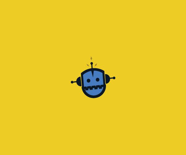 Elegant Robot Logo For Free