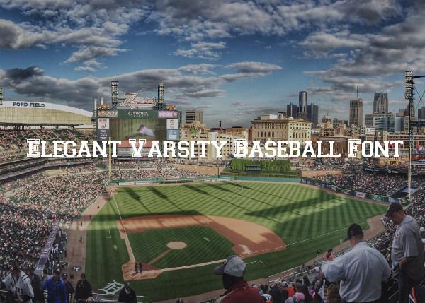 elegant varsity baseball font
