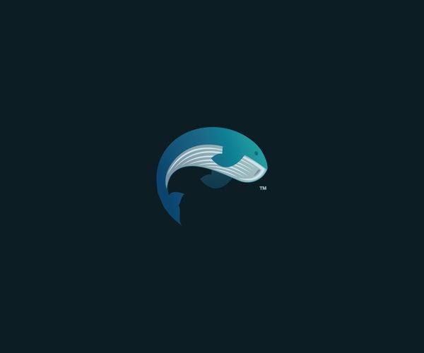 elegant whale logo design for free