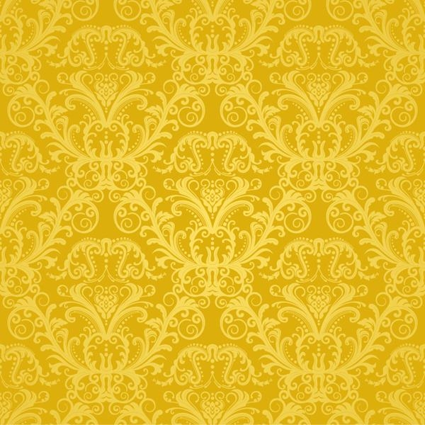 European Gold Pattern Vector Graphics