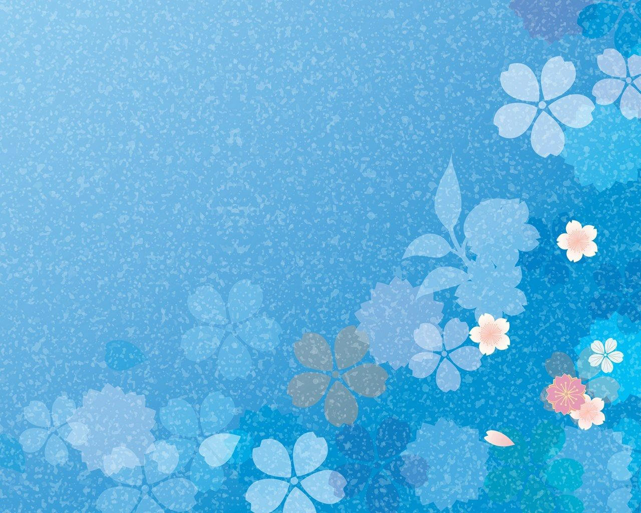 Excellent Blue Flower Background