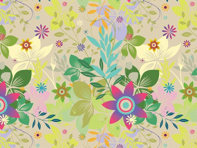 Exotic Flowers Vector Background