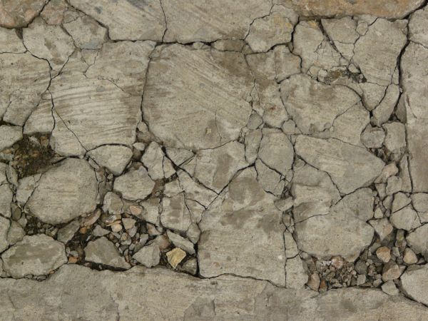 Extremely Cracked Concrete Texture Download