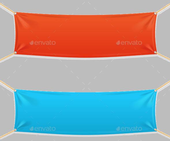 Fabric Rectangular Hanging Banner