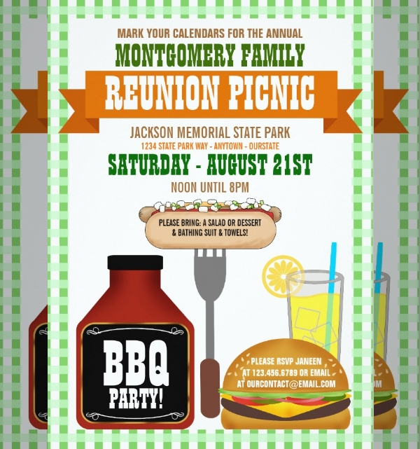family reunion dinner invitation