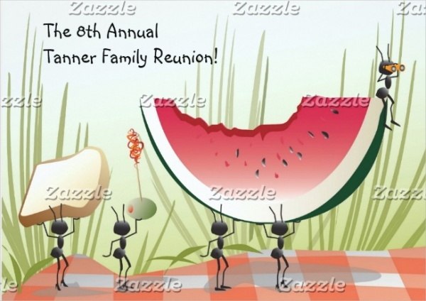 family reunion picnic invitation design