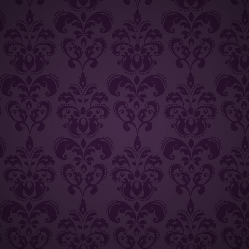 Fancy Purple Floral Decorative Pattern
