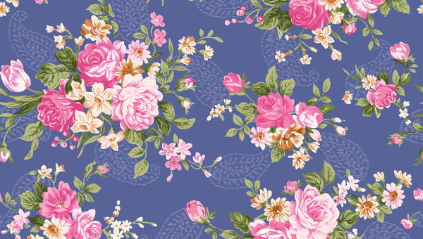 18 Lovely Vintage Floral Pattern Wallpapers