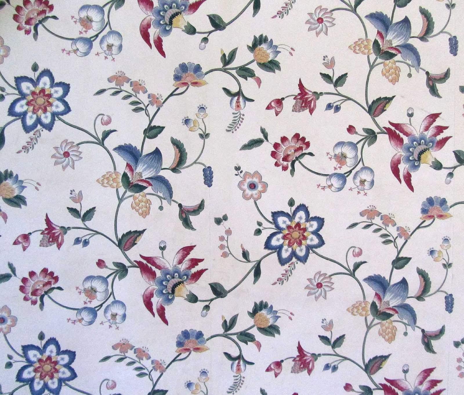 Fascinating Vintage Flower Wallpaper