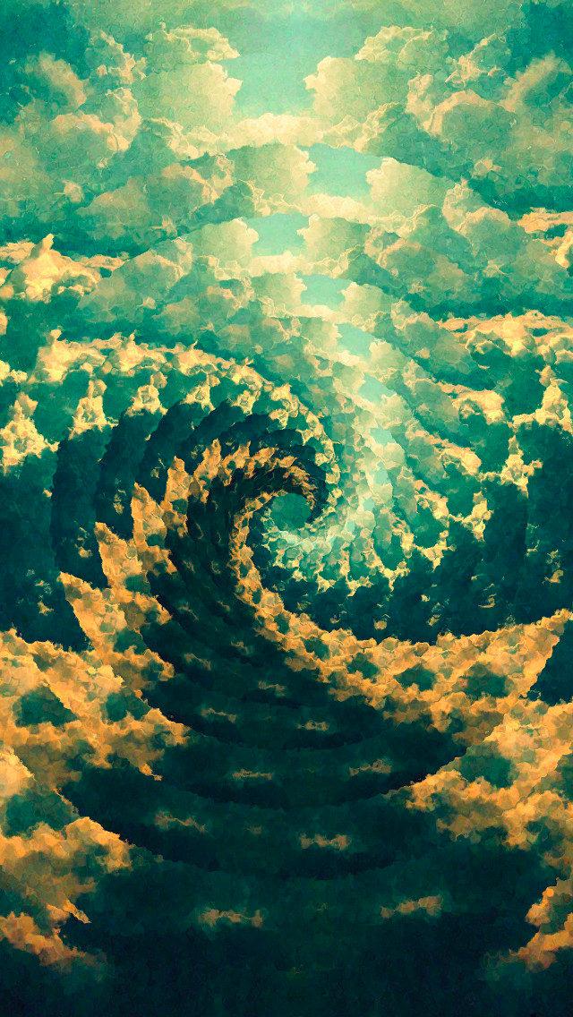 Fibonacci Vortex Trippy iPhone Background