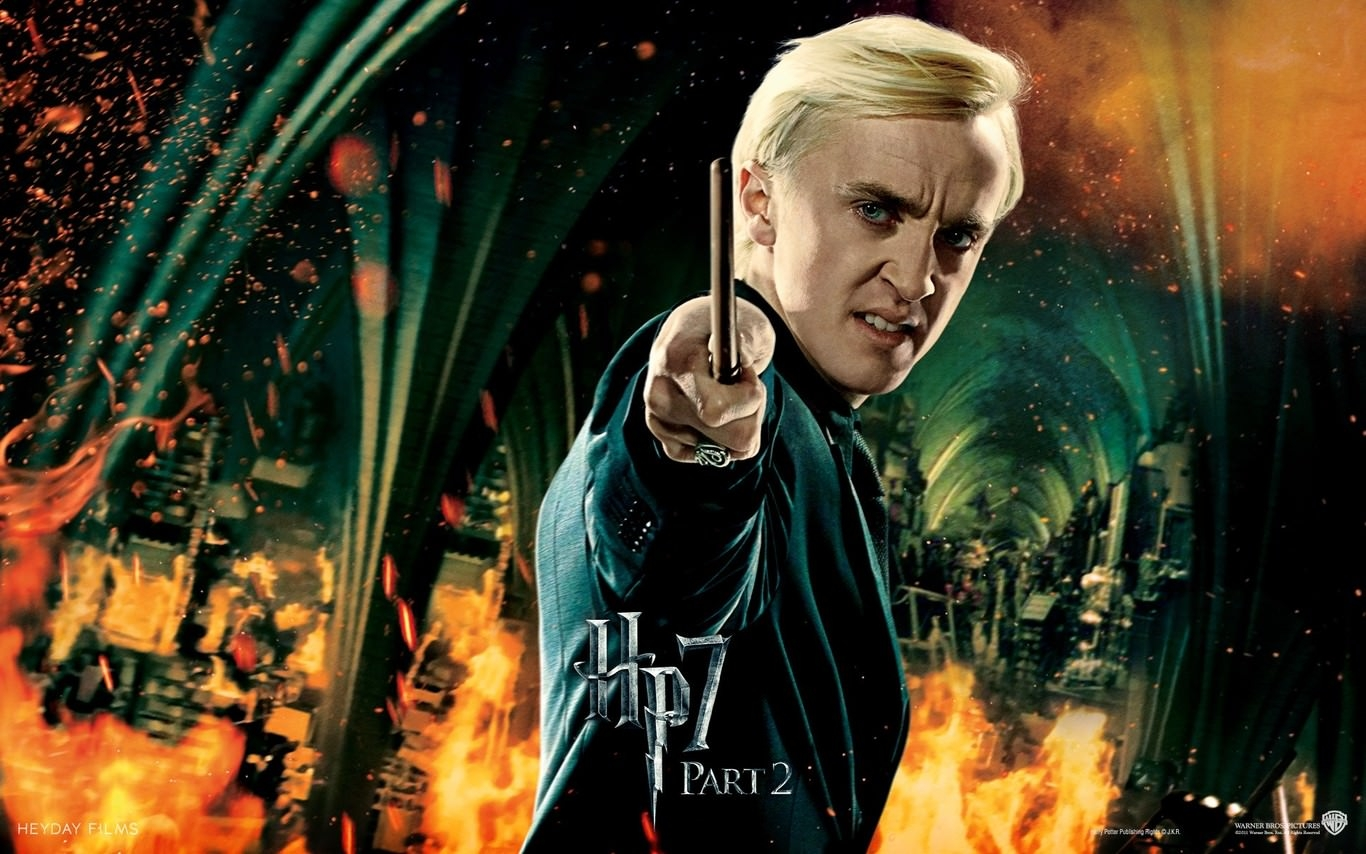 Fiery Draco Malfoy Wallpaper
