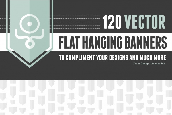 Flat Hanging Banners Design