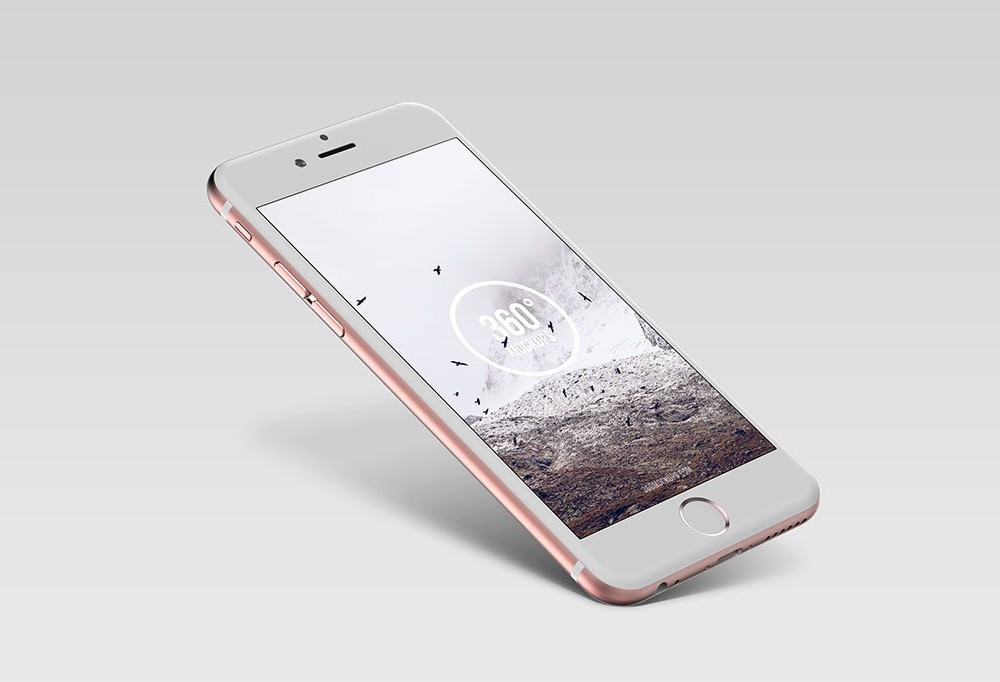 Floating Rosegold iPhone Mockup