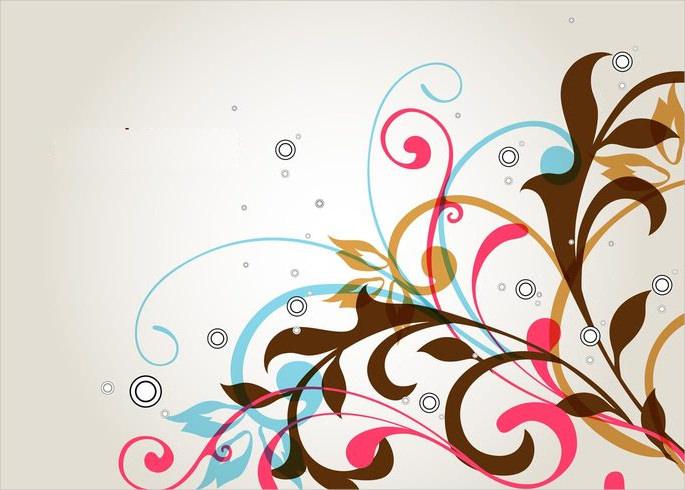 Floral Swirl Vector Pattern