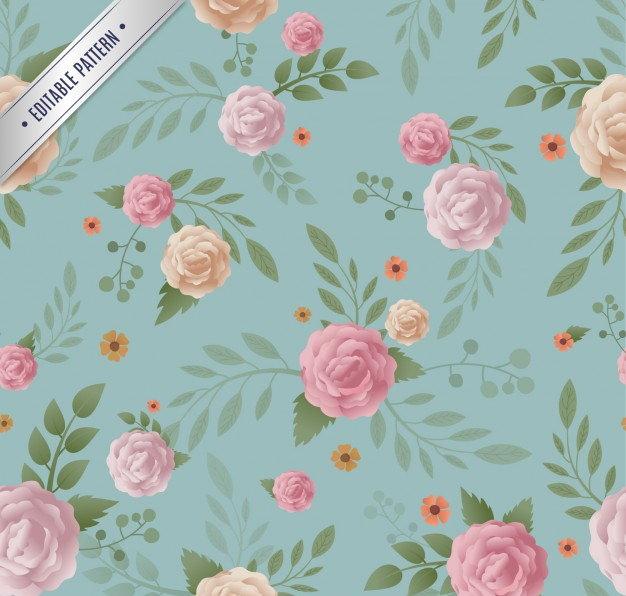 Floral pattern in vintage style