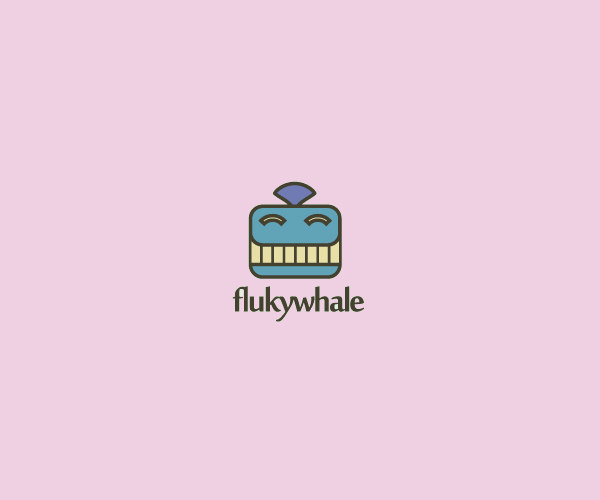 Fluky Whale Logo Design For Free