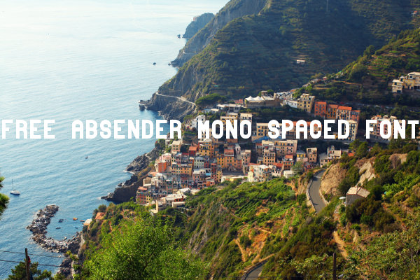 Free Absender Mono Spaced Font
