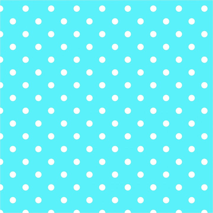 Free Aqua Blue Polka Dots Background