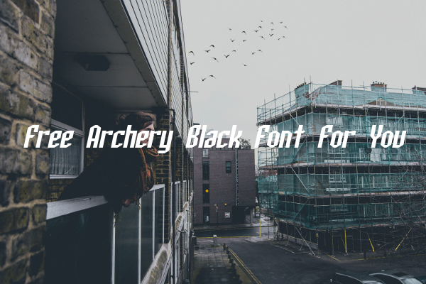 Free Archery Black Font For You