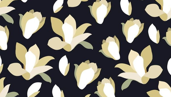 Black And White Floral Patterns Flower Patterns Freecreatives