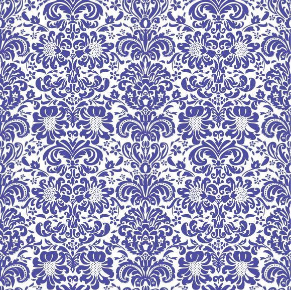 Free Blue Floral Ornament Pattern