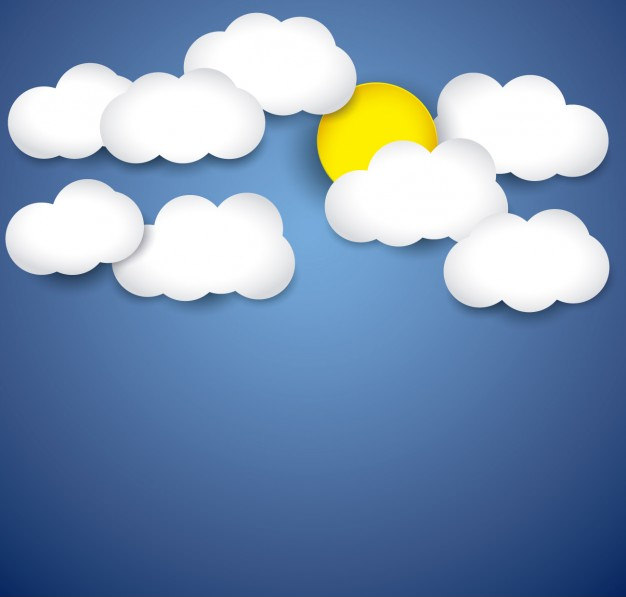 Free Blue Sky Background with Clouds & Sun