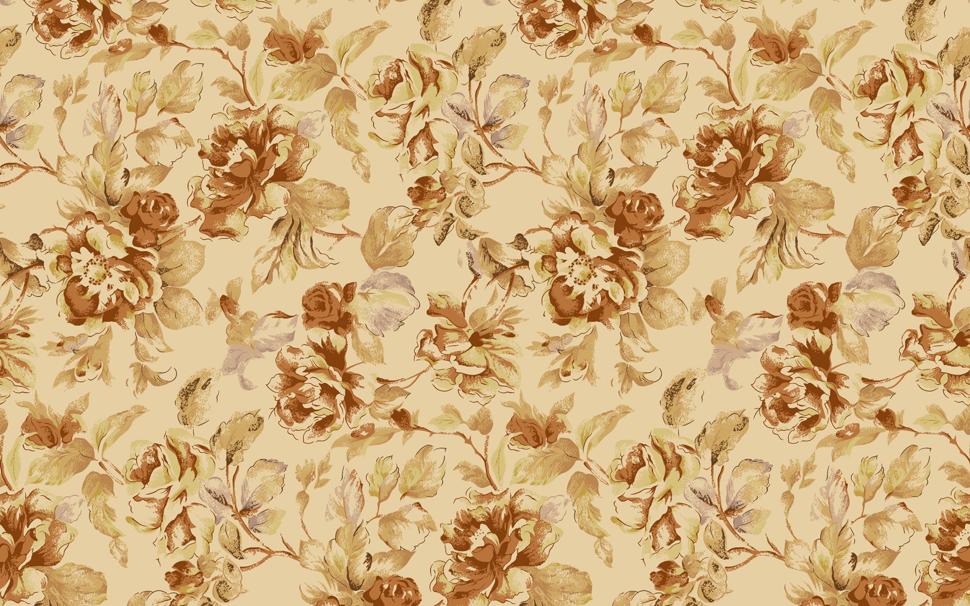 Free Brown Floral Pattern For You