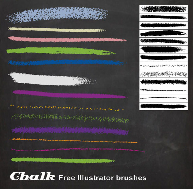Free Chalk Illustrator Brush Set