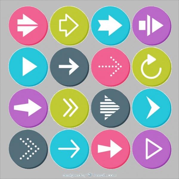 Free Circular Arrows Button Design