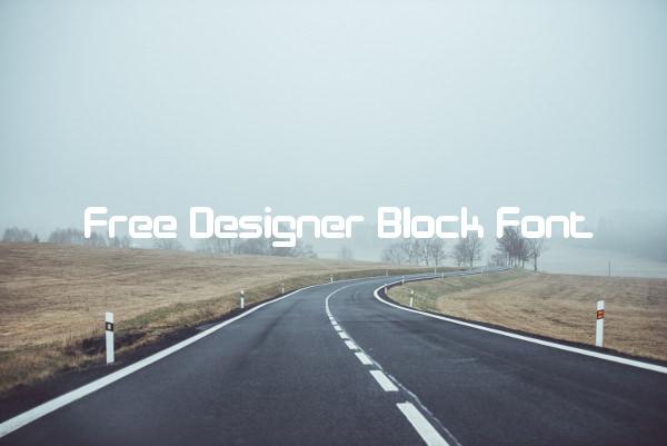 Free Designer Block Font