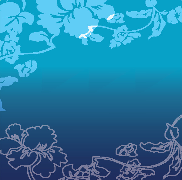 Free Floral Blue Gradient Vector Background