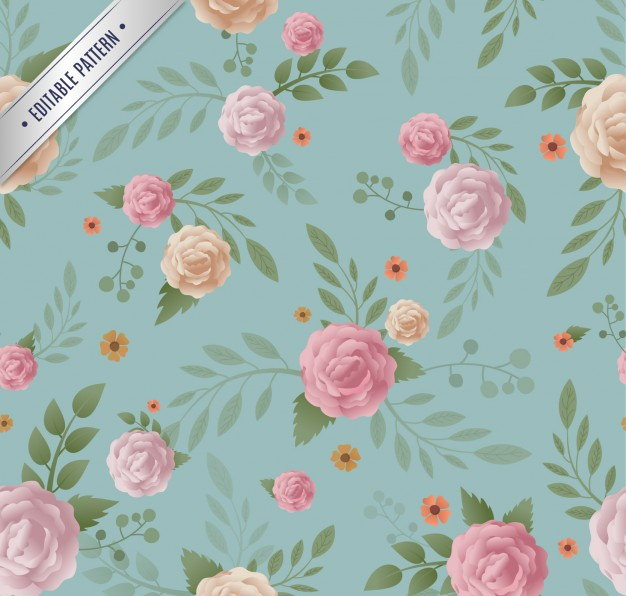 Free Floral Pattern in Vintage Style