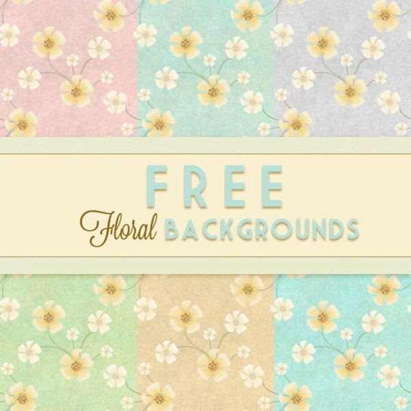Free Floral Vintage Blog Background
