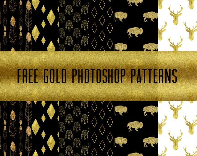 Free Gold Photoshop Patterns
