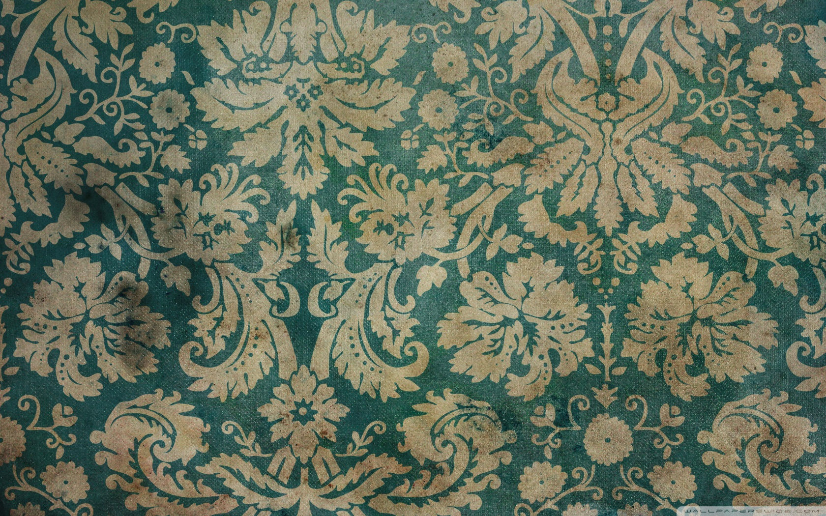 Free Green & Gold Vintage Pattern