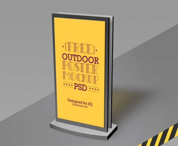 free high quality outdoor poster mockup
