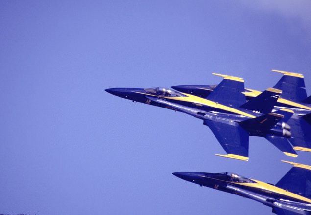Free Navy Blue Background With Fighter Planes
