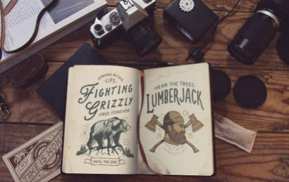 Free Old Book Cover Mockup with Vintage look