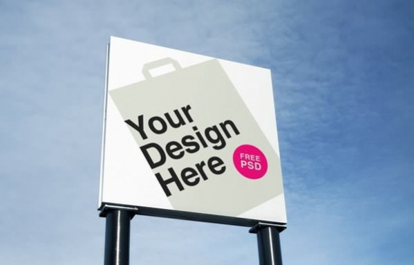 free outdoor advertising psd mockup