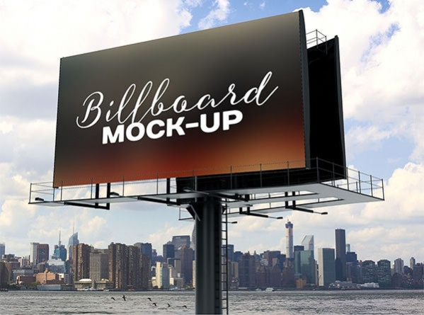 Free PSD Billboard Outdoor Advertising Mockup