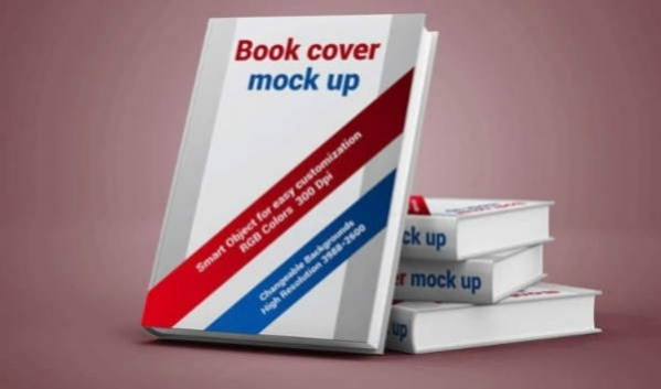 Free PSD Book Cover Display Mockup