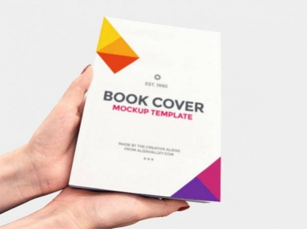 Free PSD Easily Customisable Book Cover Mockup PSD