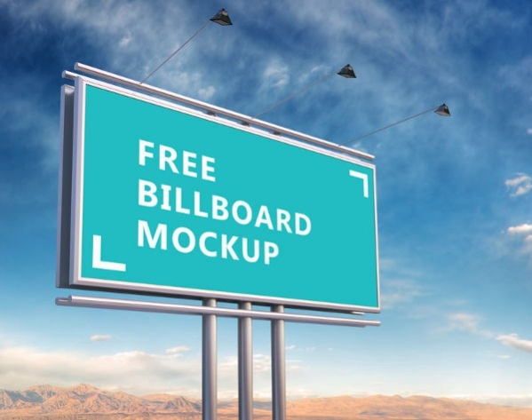 Free PSD Outdoor Advertising Billboard Mockup